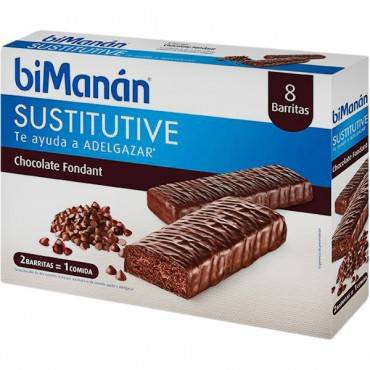 Bimanan Barritas Chocolate Negro Fondant 8 Unidades