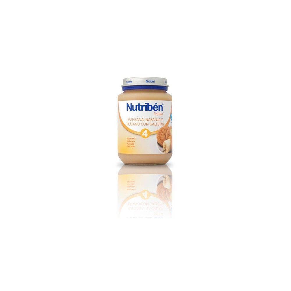 Nutriben Manzana Naranja Y Platano Con Galletas 130 Grs