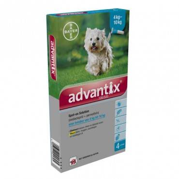 Advantix Pipeta antiparasitarias triple protección (4 -10 kg) 4 pipetas