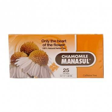 MANASUL Tea Chamomile 25 Sacs