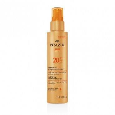 Nuxe Sun Leche Corporal y Facial Spray Spf 20 150Ml
