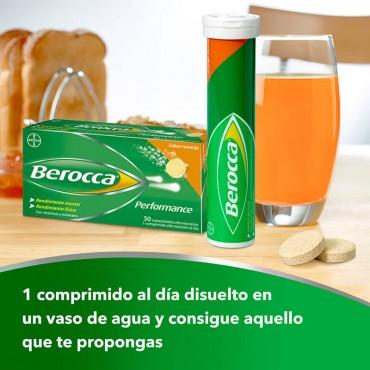 Berocca Performance comprimidos efervescentes sabor naranja indicaciones