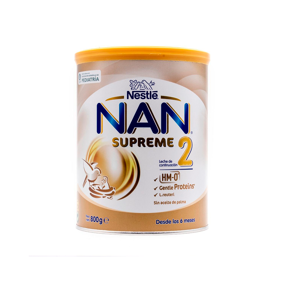 800g Leche de continuaci/ón en polvo Premium F/órmula para beb/é NAN SUPREME 2 A partir de los 6 meses