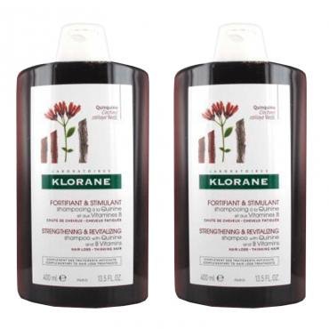 Klorane Duplo Champú Quinina 2 x 400 ml.