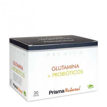 Prisma Natural Glutamina + Probióticos Premium.