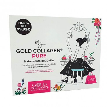 Gold Collagen Puro Bundle Box Tratamiento De 30 Días.