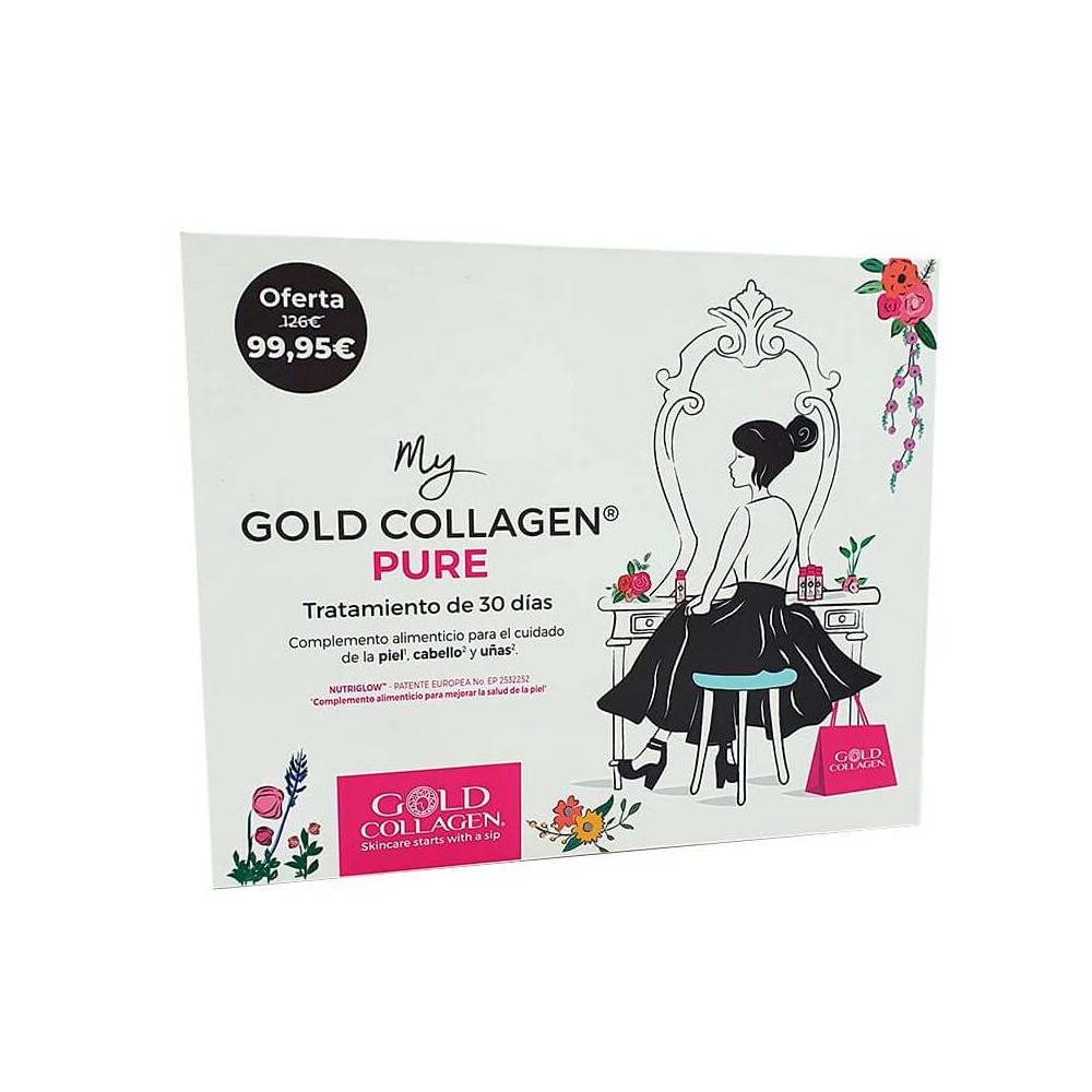 Gold Collagen Puro Bundle Box Tratamiento De 30 Días.