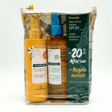 Klorane Pack Polysianes Spray 30 + Aceite Reparador + Aftersun