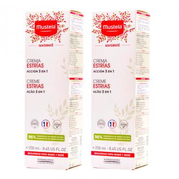 Mustela Pack crema Estrías acción 3 en 1 2x250 ml