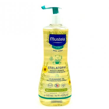 Mustela Stelatopia aceite de baño piel atópica 500 ml