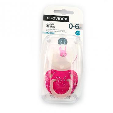 Suavinex Chupete night & day anatómico 0-6M  rosa