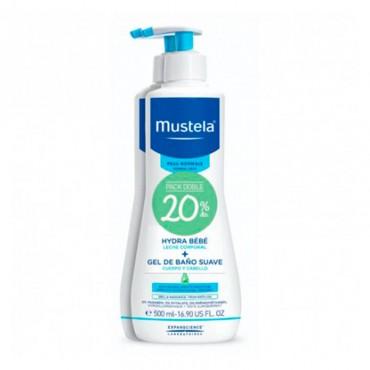 Mustela pack Hydra bebe 500 ml + Gel de baño suave 500 ml