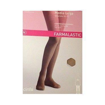Farmalastic Media Larga Compresion Normal Beige Talla Grande