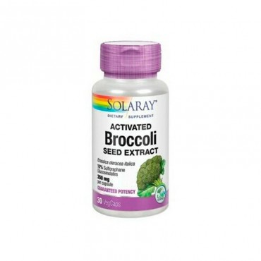 Solaray Activated Brocoli 350 mg 30 Caps