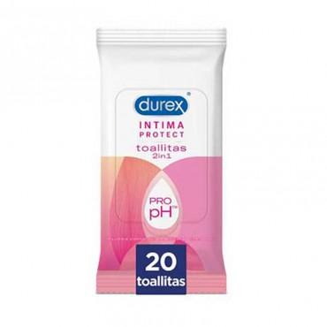 Durex Intima Protect Toallitas Higiene Intima 20 Unidades