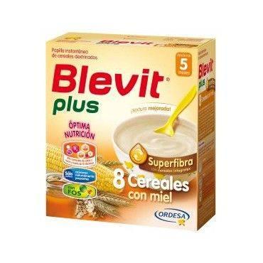 Blevit Plus Super fibra 8 Cereales Con Miel 600 Grs