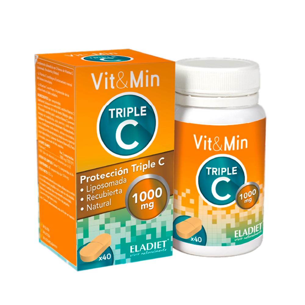 Eladiet Vit&min Triple C 100MG 40 comprimidos