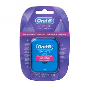 Oral B 3D White Luxe seda dental blanqueante 35 M