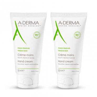 A-Derma Duplo Crema de Manos 2 x 50 ml