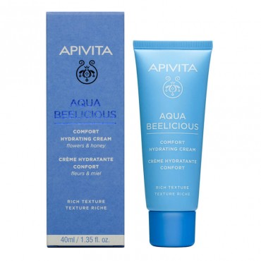 Apivita Aqua Beelicious Crema Hidratante Confort Textura Rica 40 ml