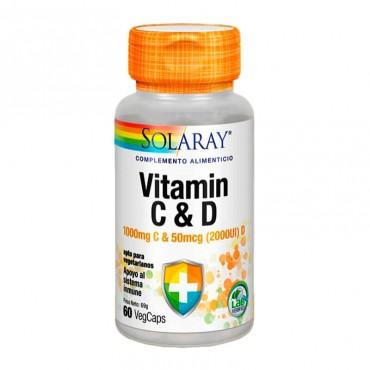 Solaray Vitamin C & D 60 Caps