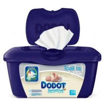 Dodot Toallitas Sensitive 54 Unidades+Caja Estuche