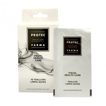 Protecfarma pack 10 toallitas limpiagafas