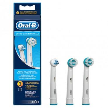 Oral-B Kit Recambio Ortho Care 2 Uni. Ortho + 1 Interspace.