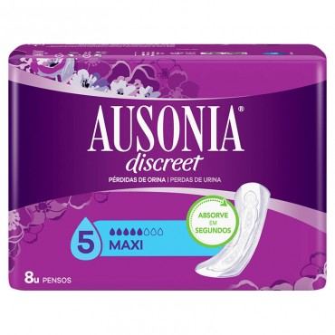 Ausonia Discreet Compresas para Pérdidas de Orina Long Plus 8 uds