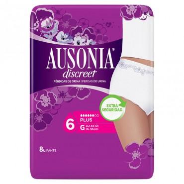 Ausonia Discreet Compresas para Pérdidas de Orina Plus G 8 uds