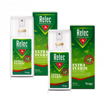 Relec Extra Fuerte Spray Repelente de Mosquitos 2x75ml