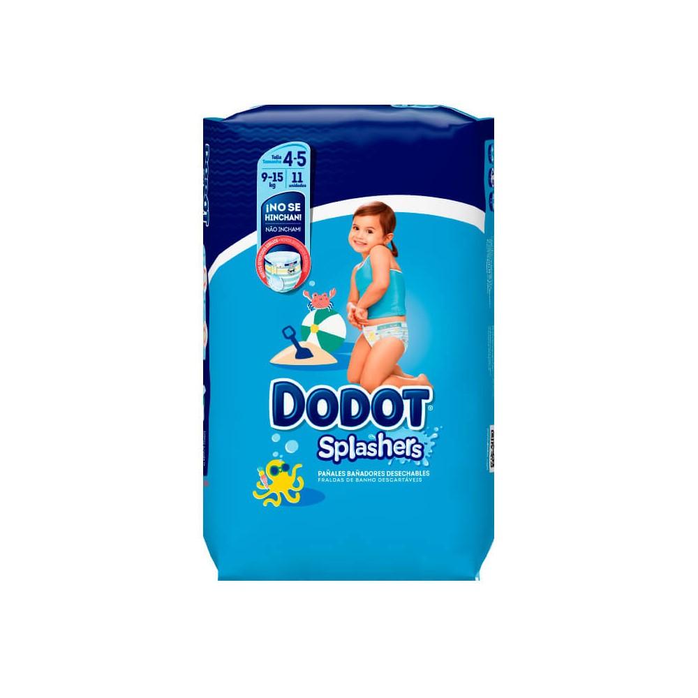 Dodot Splashers Talla 4-5, 11 Pañales, 9-15kg, Bañadores Desechables 1