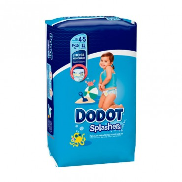 Dodot Splashers Talla 4-5, 11 Pañales, 9-15kg, Bañadores Desechables 4