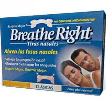 Breathe Right Tiras Nasales Clasicas Grandes 10 Unidades