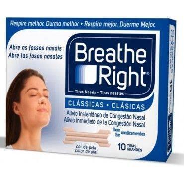 Breathe Right Tiras Nasales Clasicas Pequeñas/Medianas 10 Unidades