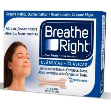 Breathe Right Tiras Nasales Clasicas Pequeñas/Medianas 30 Unidades