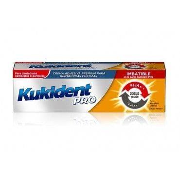 Kukident Pro Doble Accion Tamaño Ahorro 60 Gramos