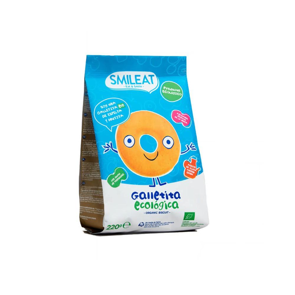 Smileat Galletas de Espelta con Manzana 220 g