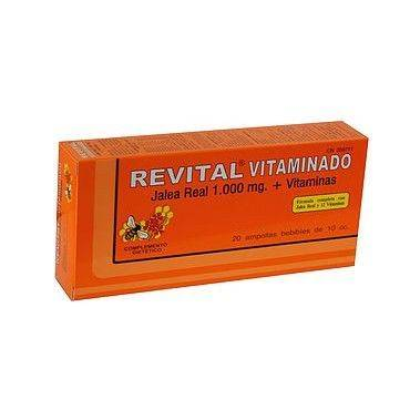 Revital Jalea Real 1.000Mg+Vitaminas+Hierro 20 Ampollas