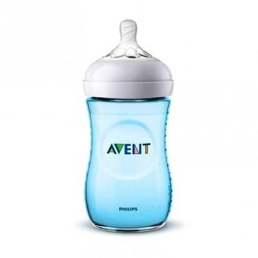 Avent Scf 035/17 Biberon Natural 1M+ 260 ml Azul