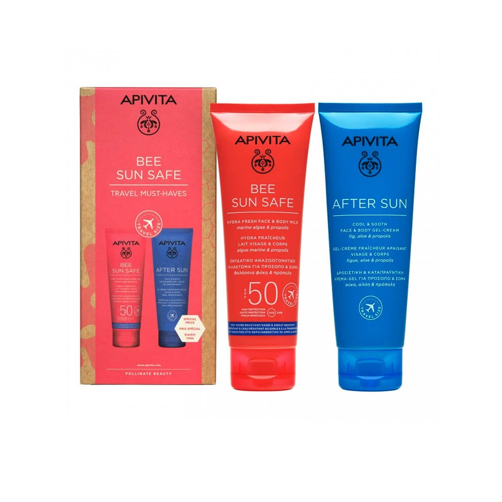 Apivita Pack Bee Sun Safe Travel Hydra Fresh 100 ml + After Sun 100 ml