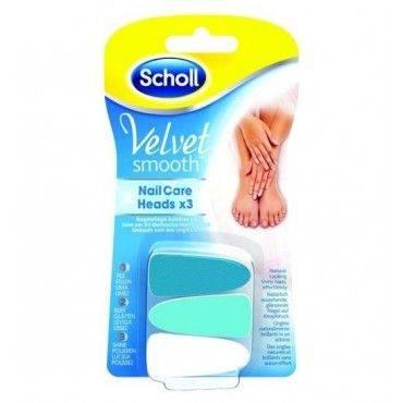 Dr. Scholl Velvet Recambios Lima Electrónica Uñas 3 Unid