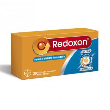 Redoxon Extra Defensas 30 unidades vista lateral derecha con envase