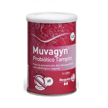 Muvagyn Probiótico Tampón Vaginal  Regular Con Aplicador 9 Unidades