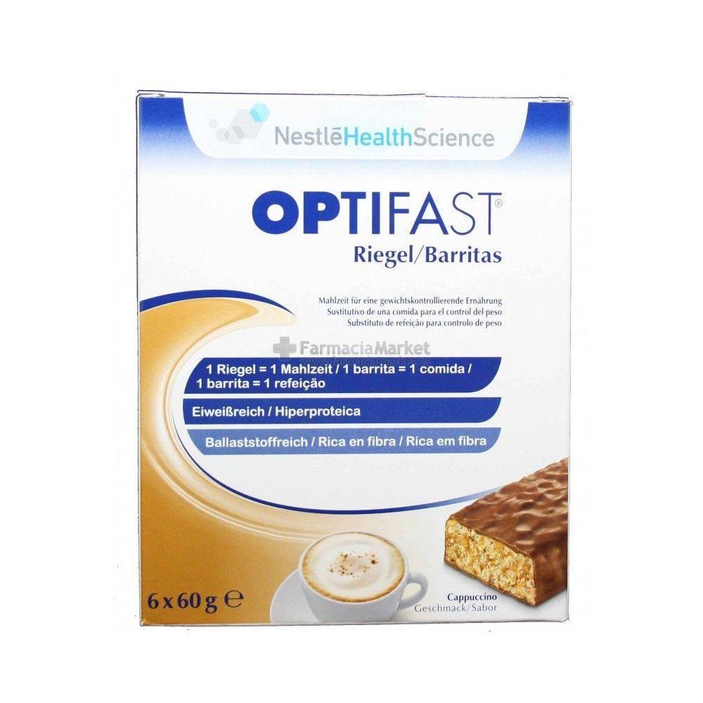 Nestle Optifast Bars Flavor Cappucino 6 Units