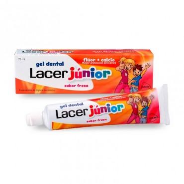 Lacer Junior Gel Dental Sabor Fresa 75 ml