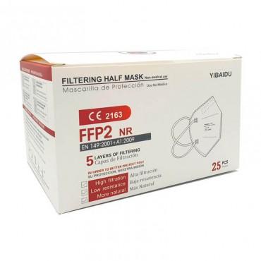 Mascarilla protección FFP2 NR 5 capas de Filtrado 1 unidad Blanca