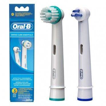 Oral-B Kit Recambio Ortho Care 2 Uni. Ortho + 1 Interspace.