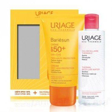 Uriage Bariésun Crema Textura Ligera Spf50+ 50 Ml + Agua Micelar 100 Ml