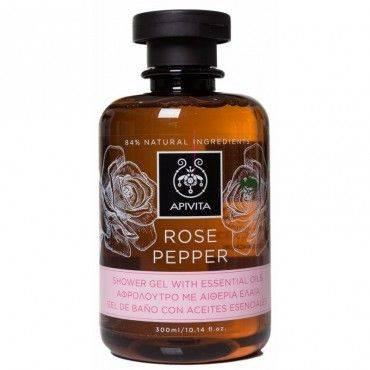 Apivita Rose Pepper Gel de Baño 300 Ml